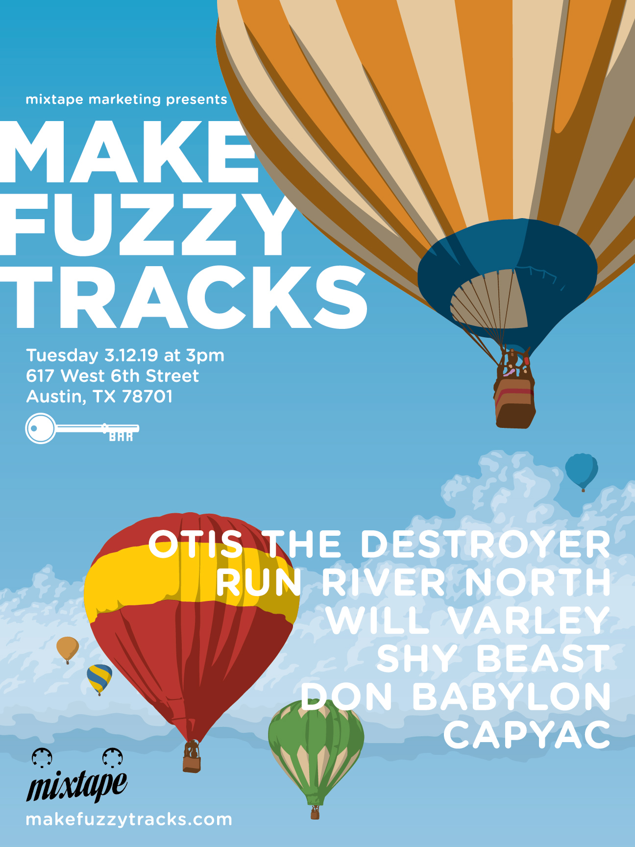 2019 Make Fuzzy Tracks Poster & Lineup